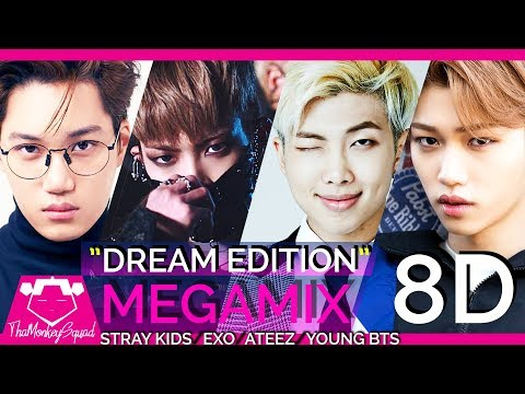 🎧 STRAY KIDS / EXO /ATEEZ / BTS - Hala Hala / Say My Name / Going Crazy / I Am You (KPOP MASHUP)8D