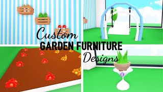 9 Custom GARDEN FURNITURE Design Ideas & Building Hacks (Roblox Adopt me) plants | Its SugarCoffee