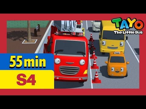 Tayo S4 EP6-10 l Chris wants recognition and more (55 mins) l Tayo Season 4 l Tayo the Little Bus