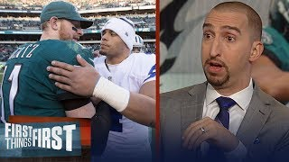 Cris and Nick look ahead to Week 10's Cowboys vs. Eagles matchup | NFL | FIRST THINGS FIRST