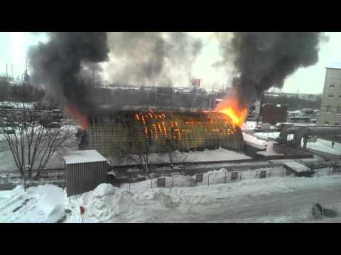 Пожар 21.01.2016 МКАД 16км
