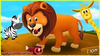 BABY TV LITTLE Babies Learn Feeding Wild Animals - Kids Learn Sounds ✅BABYTV Cartoon & Games