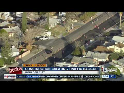 Construction in Boulder City causing traffic troubles