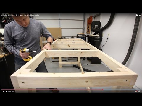 New Shop Build: Part 5 – How to build a workbench table