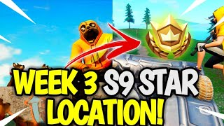 Season 9 Week 3 Secret Star Location! Fortnite SEASON 9 Week 3 Star LOCATION!