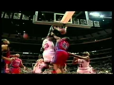 Michael Jordan 53 pts,11 reb,6 stl, season 95/96 bulls vs pistons