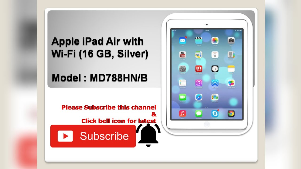Apple Ipad With Wifi 16gb Silver Unboxing A2z Youtube Air