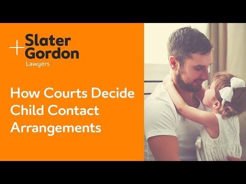 How Courts Decide Child Contact Arrangements