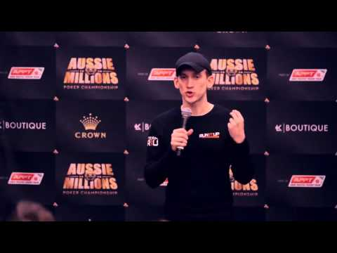 Aussie Millions 2016 Q+A