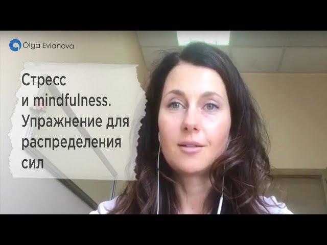 Стресс и mindfulness. Упражнение для распределения сил от Ольга Евланова