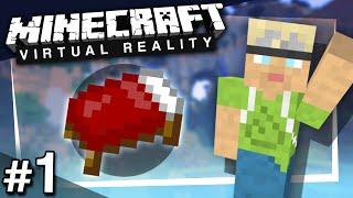 Minecraft VR: Surviving Your First Night - PART 1 (HTC Vive)