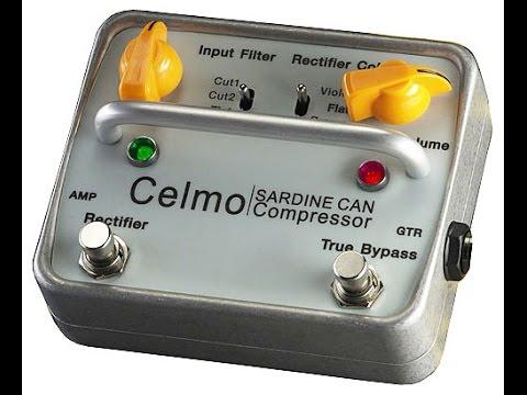 CELMO sardine can, Compressor / filter guiar pedal demo, Msm workshop.