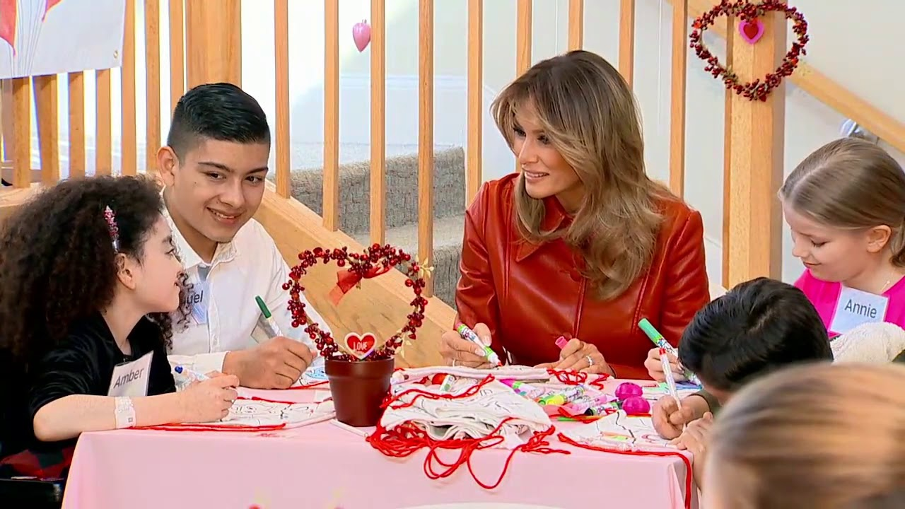 VALENTINE LOVE: Melania Trump Visits Children at Hospital On Valentine's Day - FOX 10 Phoenix
