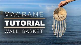 Tutorial Wicker Wall Basket / …