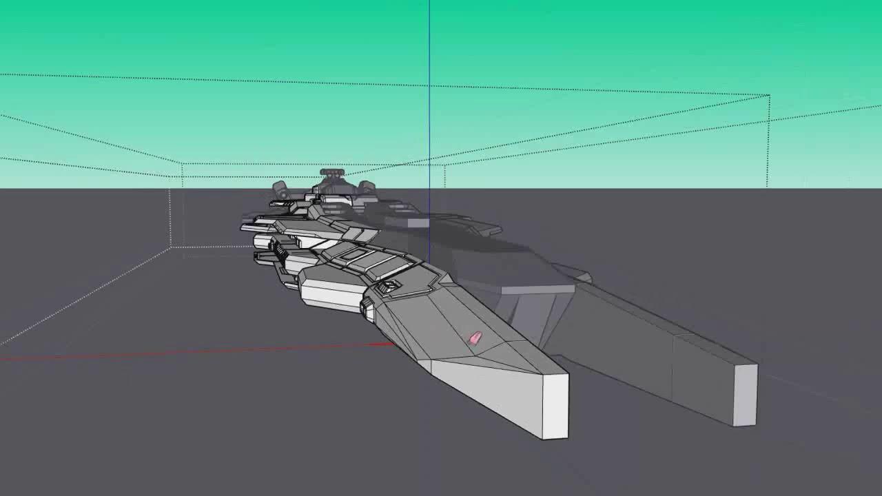 Sketchup Modeling - Support Ship Design Ep 2