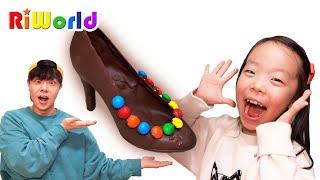 Making high hill chocolate 아빠랑 구두 초콜렛을 만들었어요