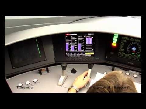 "ЭВС2-01 ""Сапсан"", видео из кабины / EVS2-01 Siemens Velaro RUS ""Sapsan"" (RZD)"