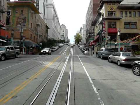 San Francisco California Street Lines Cable car ride