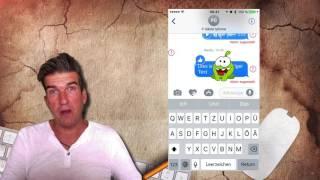 iOS10: Sticker ausblenden