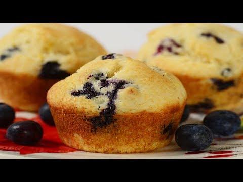 Blueberry Cornbread Muffins Recipe Demonstration - Joyofbaking.com