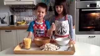 Куриные маффины с сыром. Дети готовят еду сами. Cooking kids.