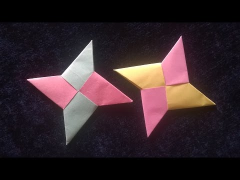 How to Make Origami/Paper Ninja Star    Throwing Ninja Star Making    You Can Do This