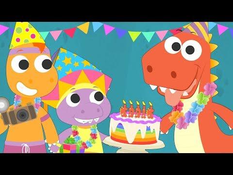 Aprende con Eddie a decorar su fiesta de cumpleaños 🎁 Eddie el dinosaurio celebra su cumple CAP 3