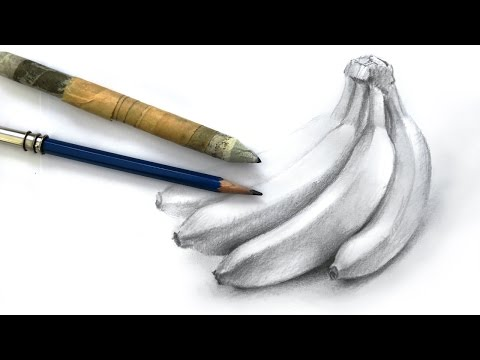 how-to-draw-a-bunch-of-bananas-with-pencil