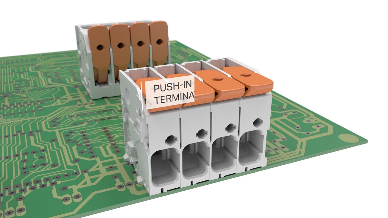 Wago Pcb Terminal Blocks For Power Electronics Youtube Connector 2 Wire 222 412 Compact Block Lever Cage Clamp