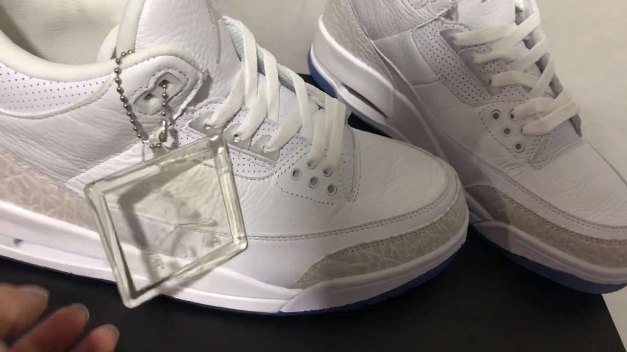 507e3434 Air Jordan 3 'Pure White' Triple White Jordan 3 retro white cement first  look from ovoustrades.com
