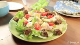 Как приготовить салат Цезарь дома | Простой рецепт салата Цезарь