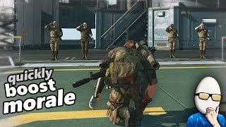 Metal Gear Solid V - Quickly Boost Staff Morale Tip Mother Base MGS5