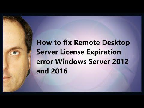 How to fix Remote Desktop Server License Expiration error