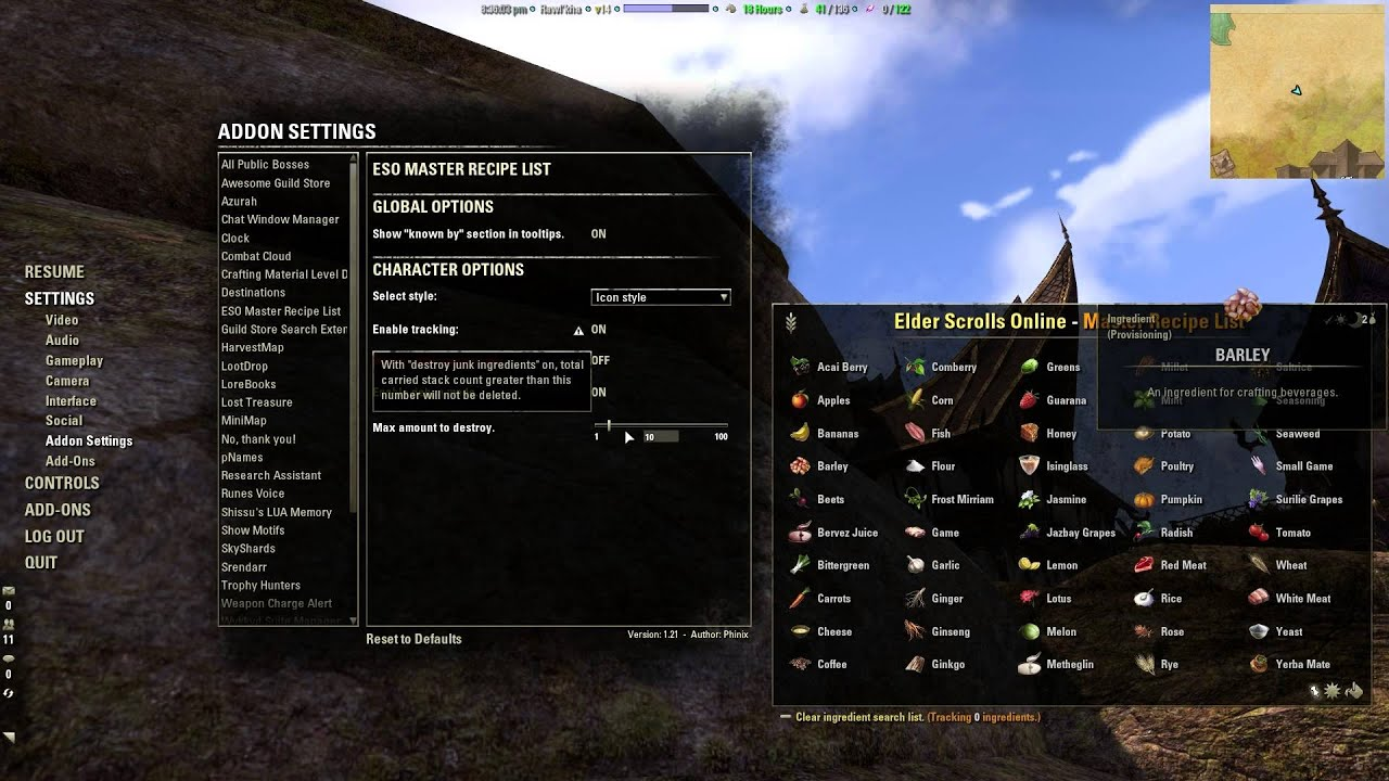 Eso master recipe list addon youtube eso master recipe list addon forumfinder Choice Image