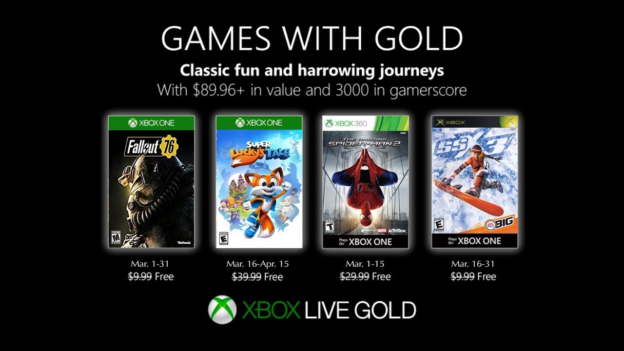 Xbox March 2019 Games With Gold March Xbox Games With
