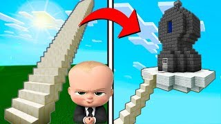 "Minecraft Tutorial: How To Make The Boss Babys Hidden Sky Base ""Boss Baby Hidden Base"""
