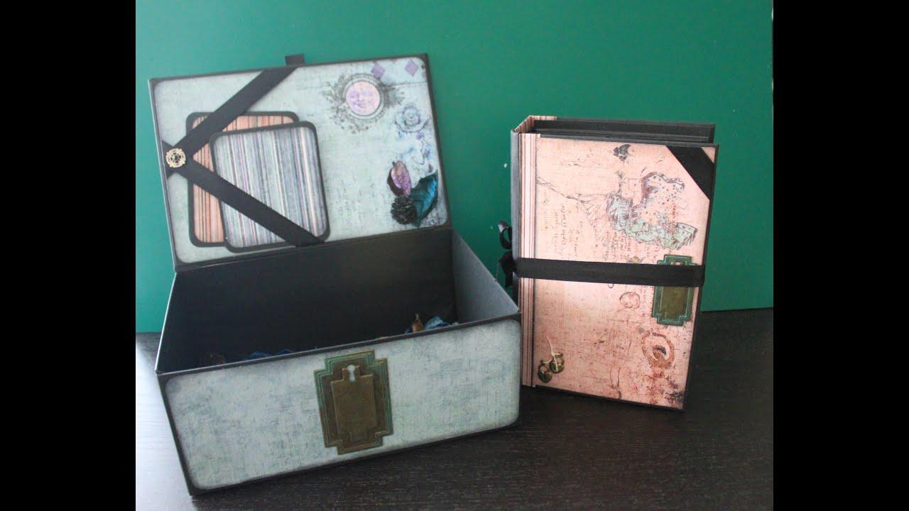 Album scrapbooking con caja a juego youtube - Como hacer un album de fotos ...