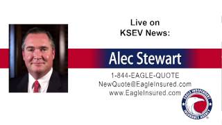 4/7/15 → Alec Stewart from Eagle Independent Insurance Agency live on News Radio