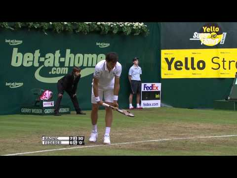 [HD] ATP Gerry Weber Open, Halle 2012, QF -  [2] Roger Federer (SUI) vs.  [5] Milos Raonic (CAN)