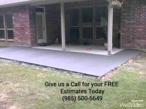 concrete patio extension youtube
