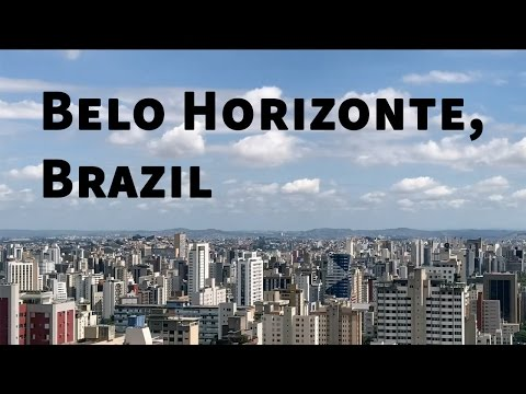 Belo Horizonte, Brazil timelapse: midnight to midday