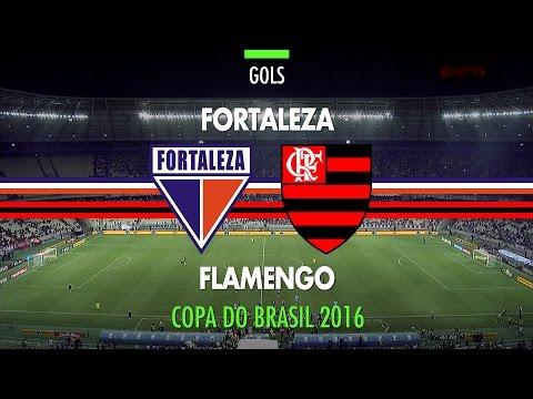 Gols - Fortaleza 2 x 1 Flamengo - Copa do Brasil - 04/05/2016