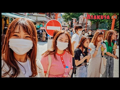 These Sweet Japanese GIRLS Made Asakusa Day Prettier ,Tokyo【4K】