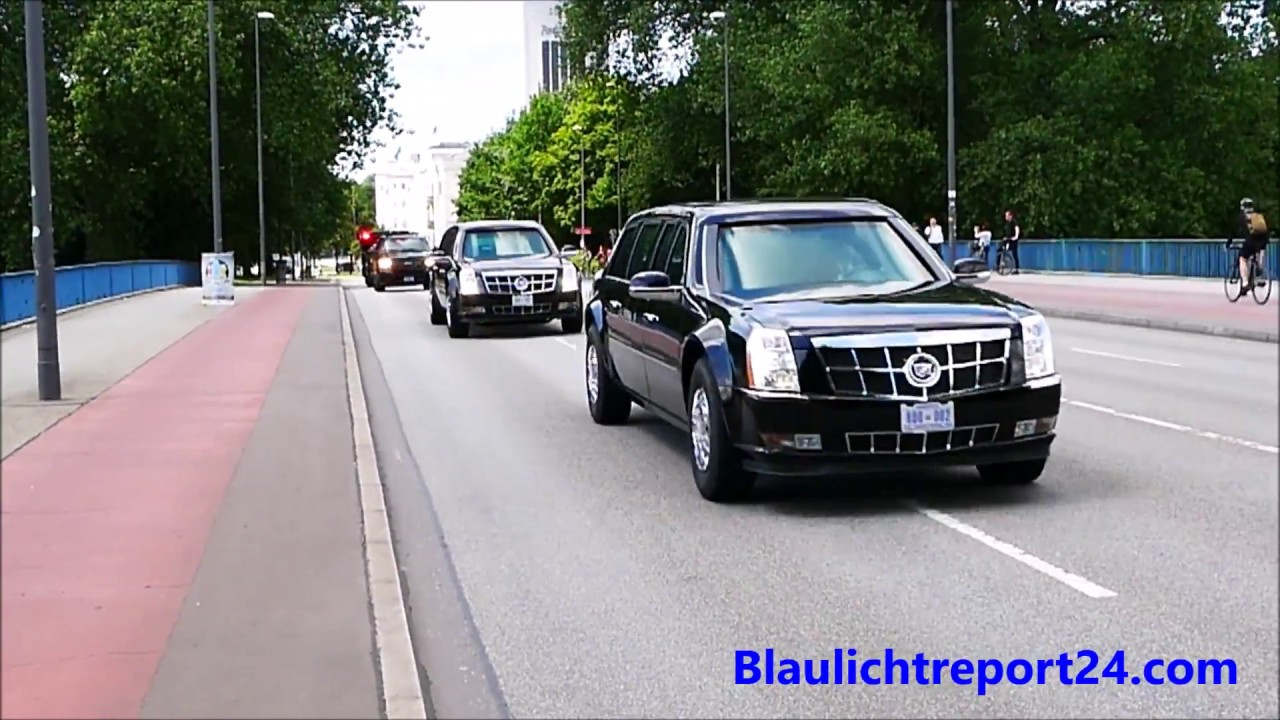 G20 Hamburg VIP escort US President Trump Secret Service & Police 2 ...
