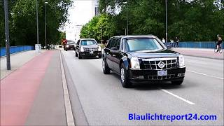G20 Hamburg VIP escort US President Trump Secret Service & Police  2 x The Beast
