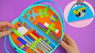 Powerpuff Girls DIY Organizer Bag Pencil Case | FUNNY AND EASY CRAFTING WITH YOUR STATIONARY