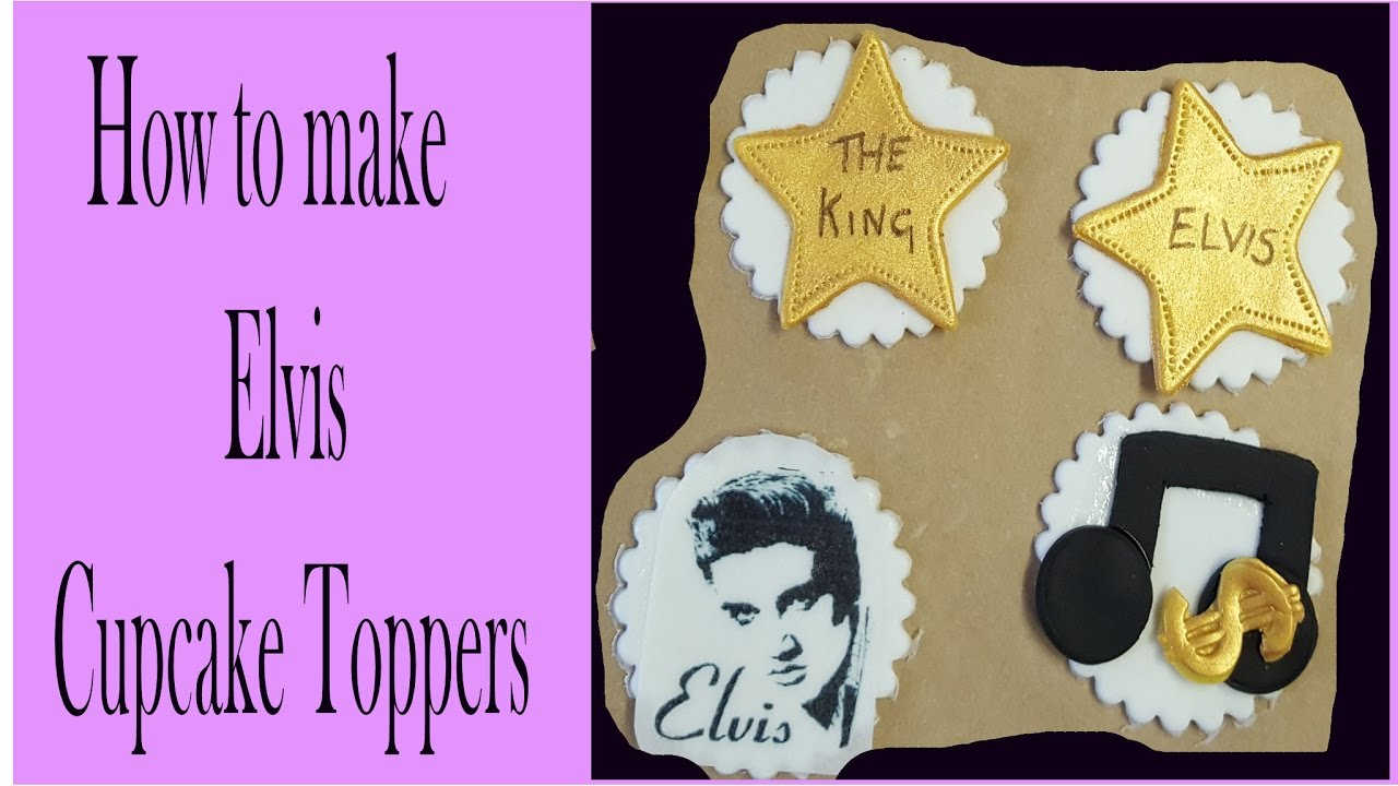 simple cake decorating ideas with fondant.htm making elvis fondant cupcake toppers tutorial youtube  elvis fondant cupcake toppers tutorial