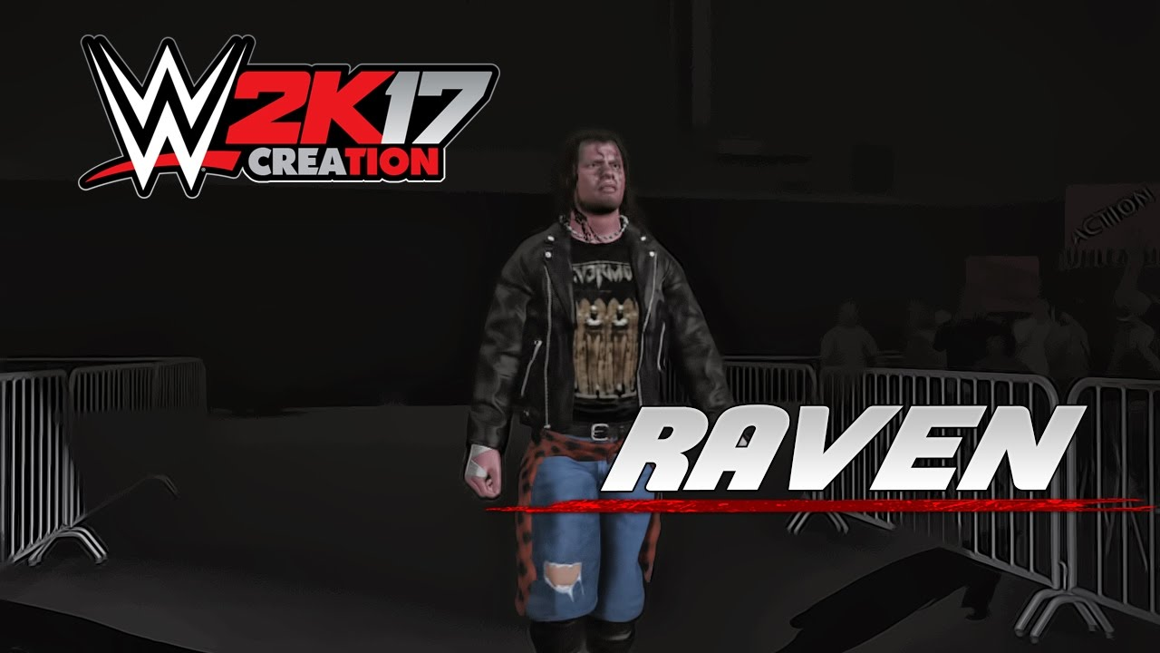 Wwe 2k17 Caw Creation Raven Youtube