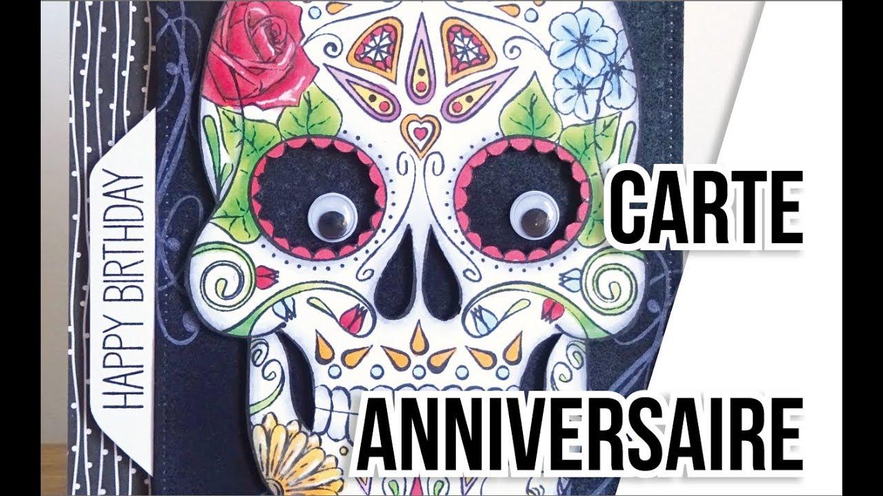 2017 Carte Anniversaire Facon Halloween Youtube