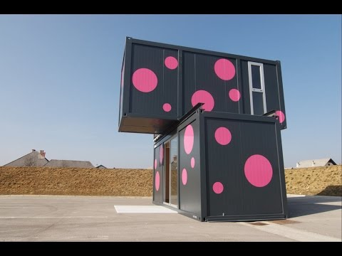 Stunning Container House Design : Week End House 2+, a Container House by Jure Kotnik Arhitekt